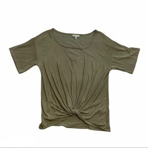 LUCKY t-shirt with knot at the waist